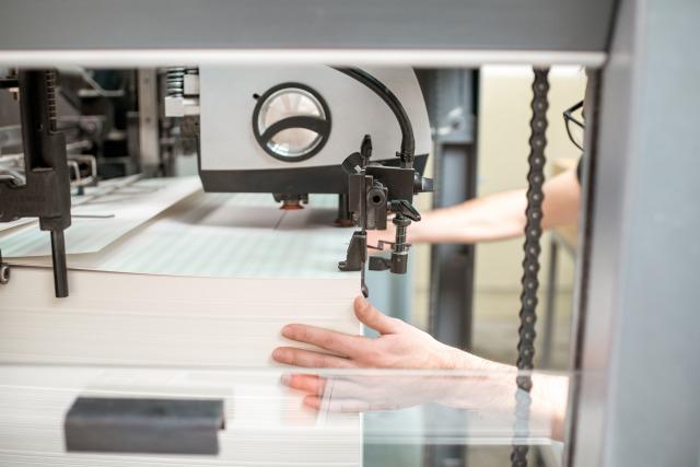 印刷機のフィーダー部 / 印刷用紙を給紙