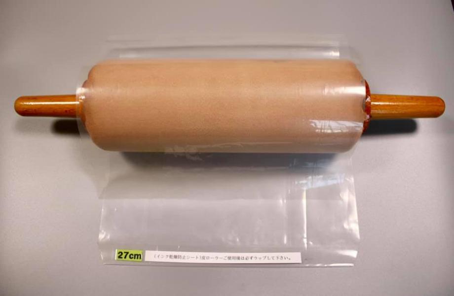 インキ乾燥防止対策シートを巻いてインキの乾燥を防ぐ
