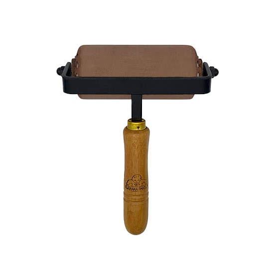 インク詰め用(裏)革ローラー  10cm