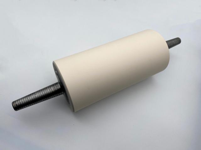 屋外鋼板転圧用ゴムローラー 直径φ13cm×面長27cm 硬度70度